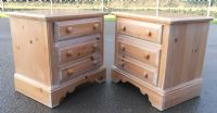 Pair Bleached Pine Bedside Chests